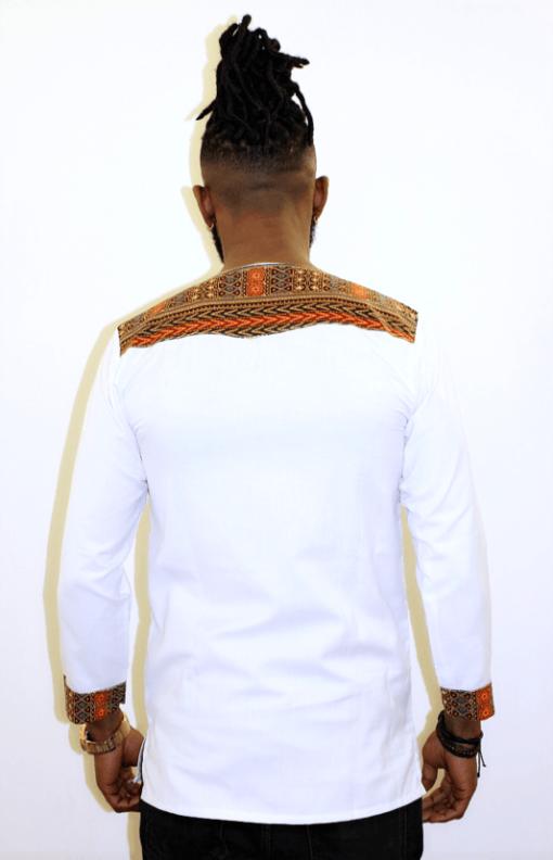 illustration T-shirt manches longues blanc vue de dos