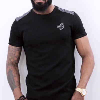 illustration T-shirt manches courts noir