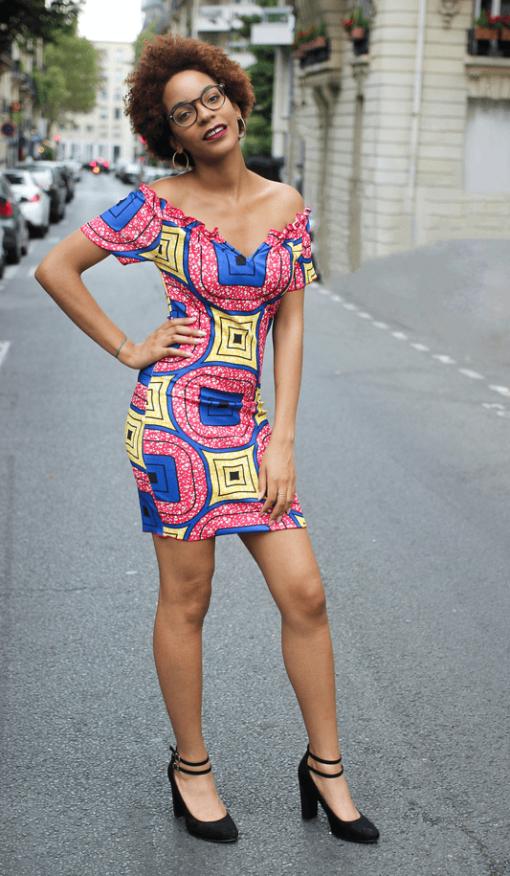 Image illustration Robe imprimée africain
