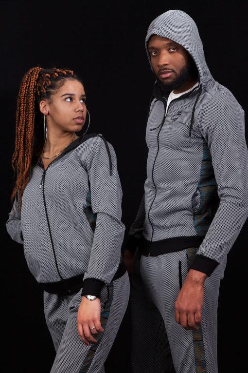 Illustration Survetement wax gris homme et femme