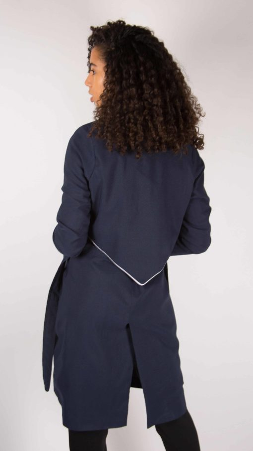 Illustration Trench-coat liseré Femme dos