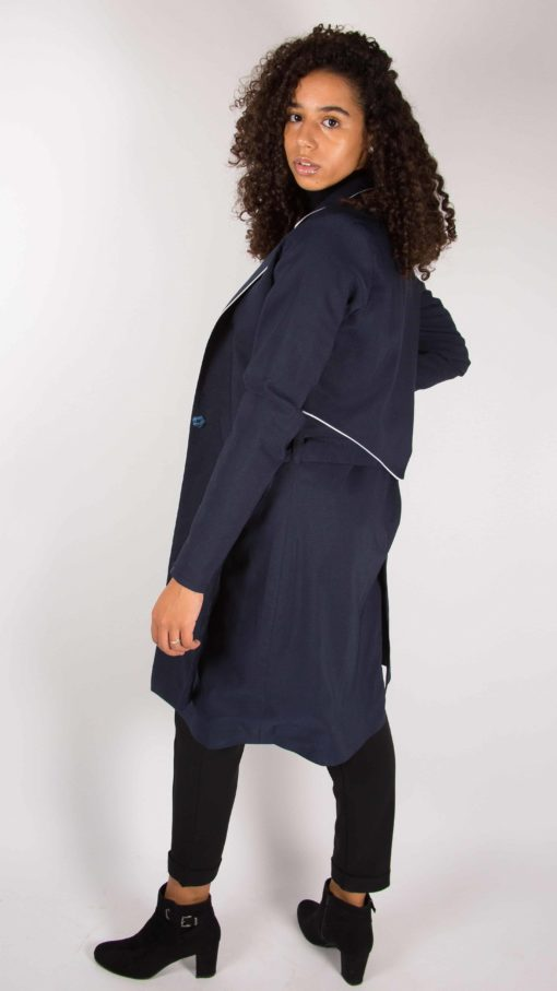 Illustration Trench-coat liseré Femme côté